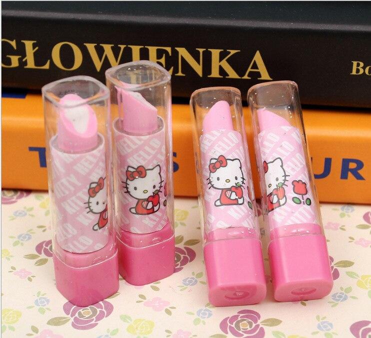 New Arrive Lipstick Design Student Eraser Rubber, Children hello Kitty Eraser, Office & School Supplies kawaii eraser for kids