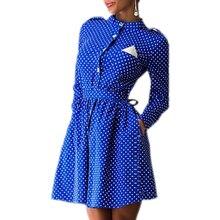 2016 Autumn Polka Dot Decoration Long Sleeve Sexy Slim Mini Dress Casual Style Dress Three Colors Dress Vestidos Q0009B