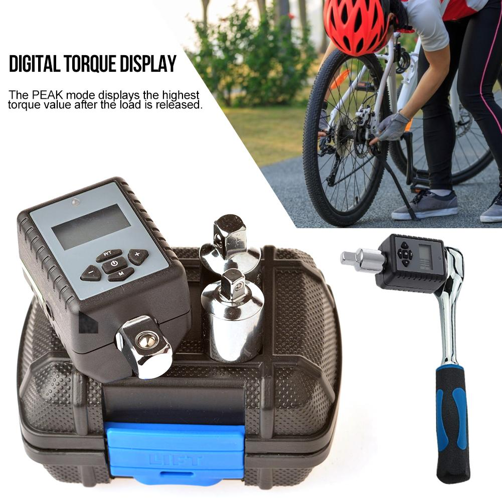 Free Shipping Digital Torque Wrench 1 2 2 200Nm 3PCS Adjustable Professional Electronic Torque Wrench Bike