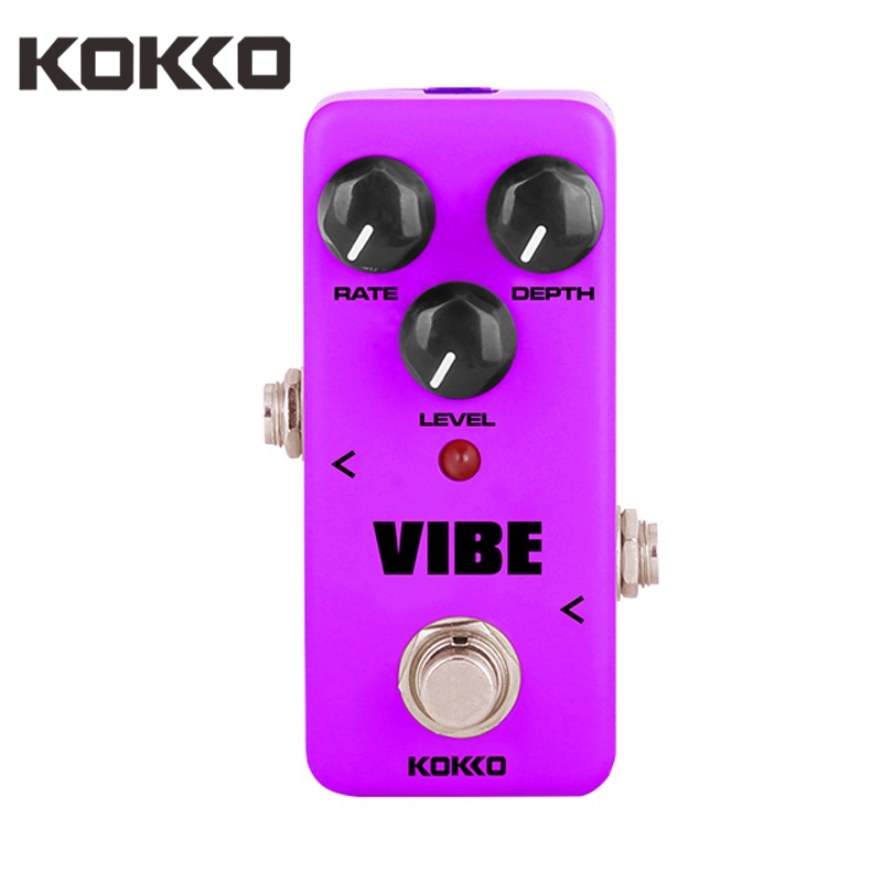 KOKKO FUV2 Mini Electric Guitar Effect Pedal Vibe Ture Bypass Analog Rotary Speaker Effect Sound Processor Guitarra Accessories