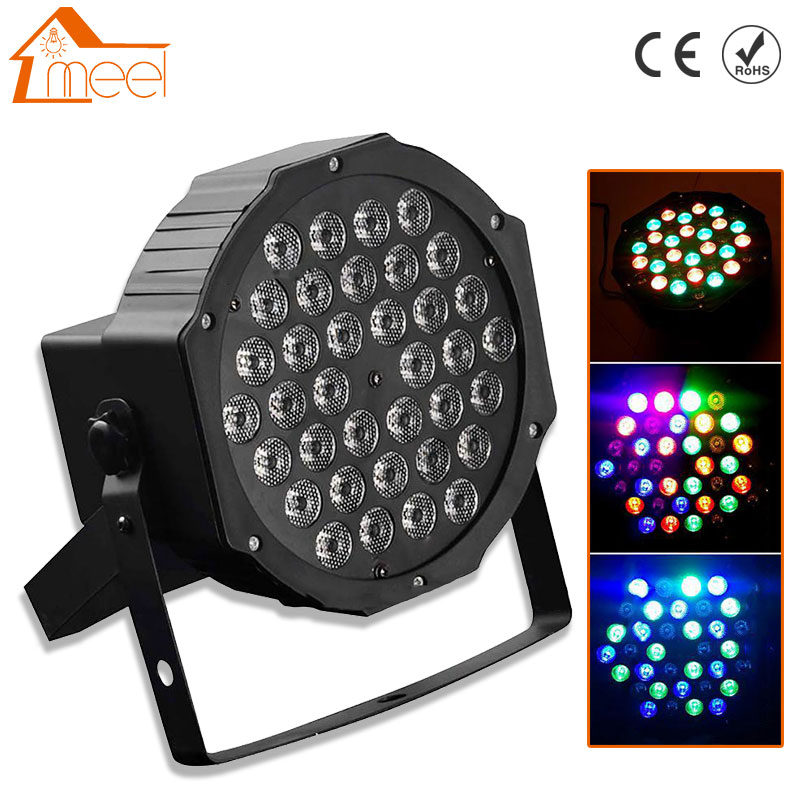 36 LED LED Stage Light RGB Crystal Magic Ball Bulb DMX Par Light 110-240V Disco Club Party Light with Remote Controller