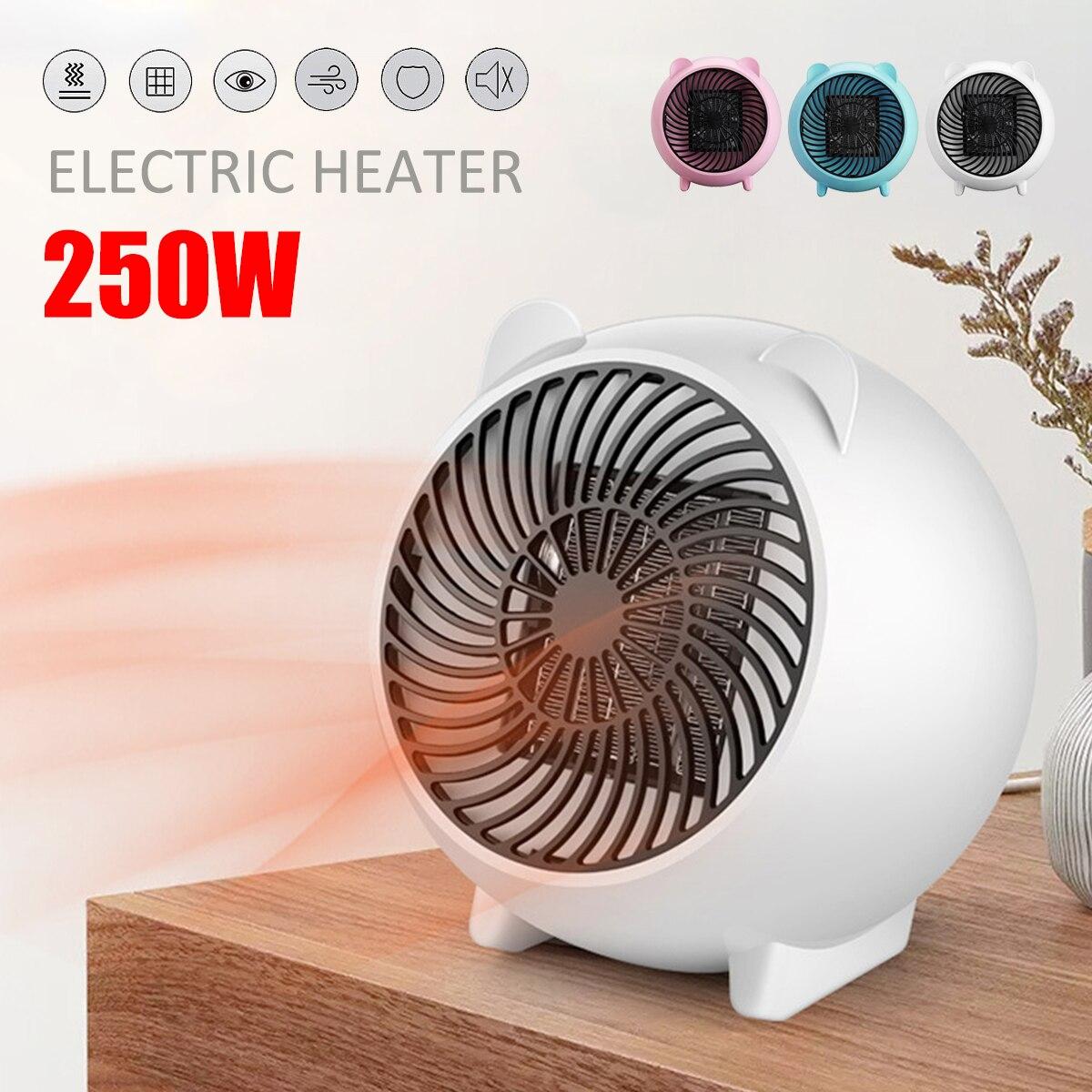 250W Electric Heater Portable Mini Air Space Heater Electric Winter Heating Fan Handy Air Warmer Home Office 220V EU/110V USplug цена 2017