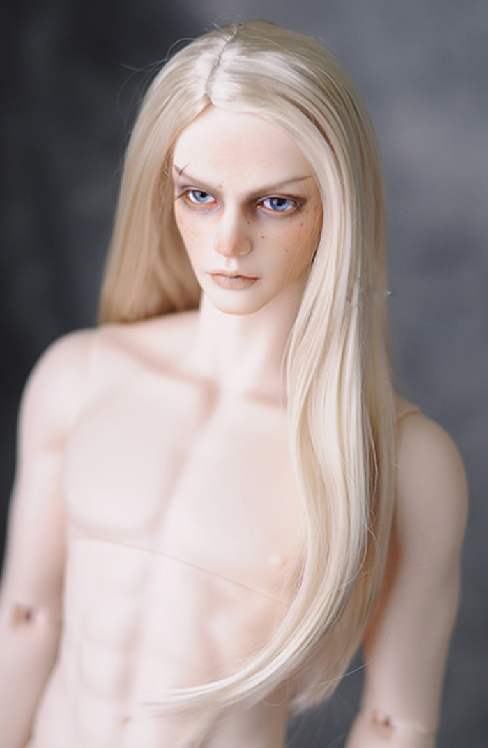 Newest 1/3 8-9 BJD Wig Super Doll Wig Fashion Style Long Light Blonde Mohair For BJD Doll Hair Wig Free Shipping