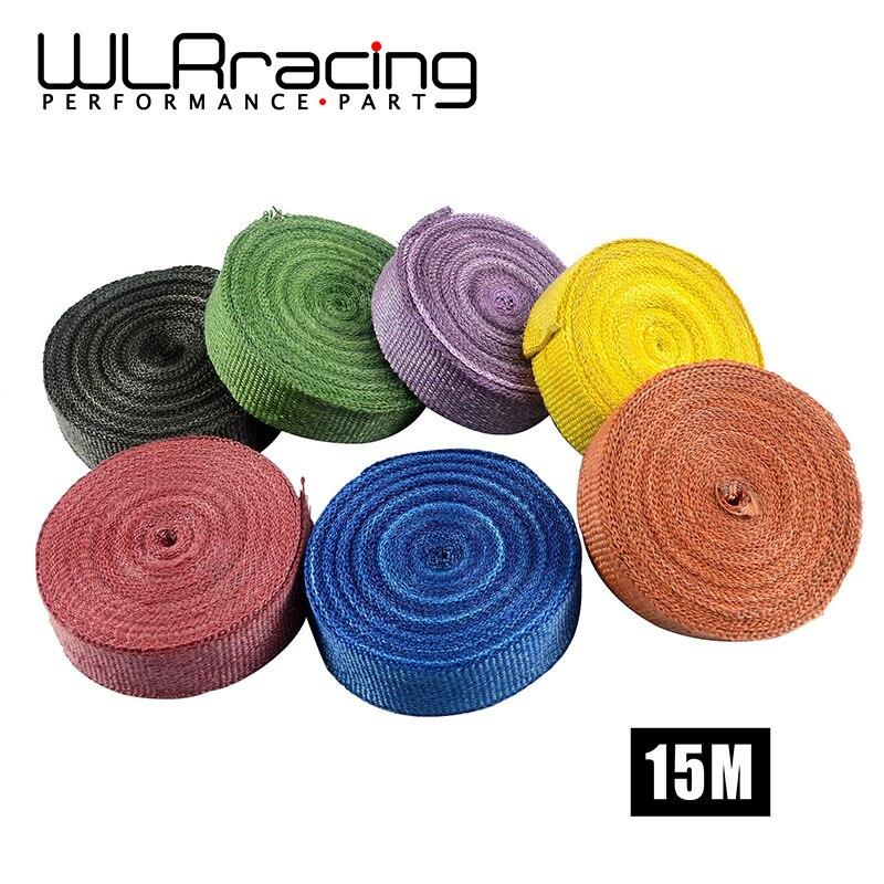 WLR RACING - 2 *15meter Thermal Wrap,exhaust insulating warp,header warp ,exhaust pipe warp+ 6 pcs Ties WLR1815 kettner warp t