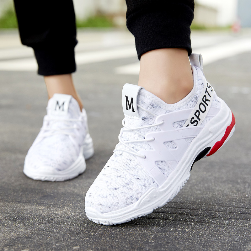 Spring Kids Sneakers Children Shoes Breathable Boys Casual Shoes Girls Trainer FlyKnit white sport shoes for girl running shoe in Sneakers from Mother Kids