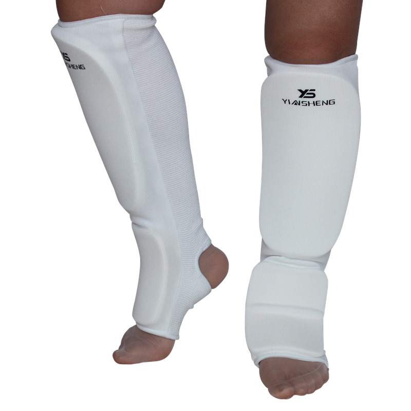 XL Muay Thai White S,M ARD Shin Instep Protectors Guards Pads Boxing MMA L