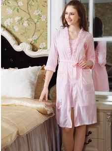Весна осень лето женщины в пижама гостиная тонкая лямка костюм-двойка ночная рубашка мантия халаты мяч