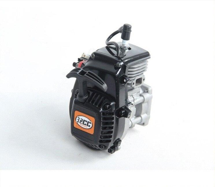 Moteur 32cc à 4 boulons avec carburateur Walbro 668 et bougie d'allumage NGK pour pièces 1/5 hpi baja losi