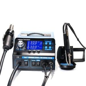 Image 4 - YIHUA 992DA + 4 ב 1 LCD הדיגיטלי אוויר חם אקדח הלחמה תחנה + ואקום עט + עישון חשמלי הלחמה ברזל BGA עיבוד חוזר תחנה
