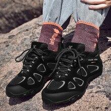 XIANG GUAN Men Hiking Shoes Non-slip Wear-resistant Climbing