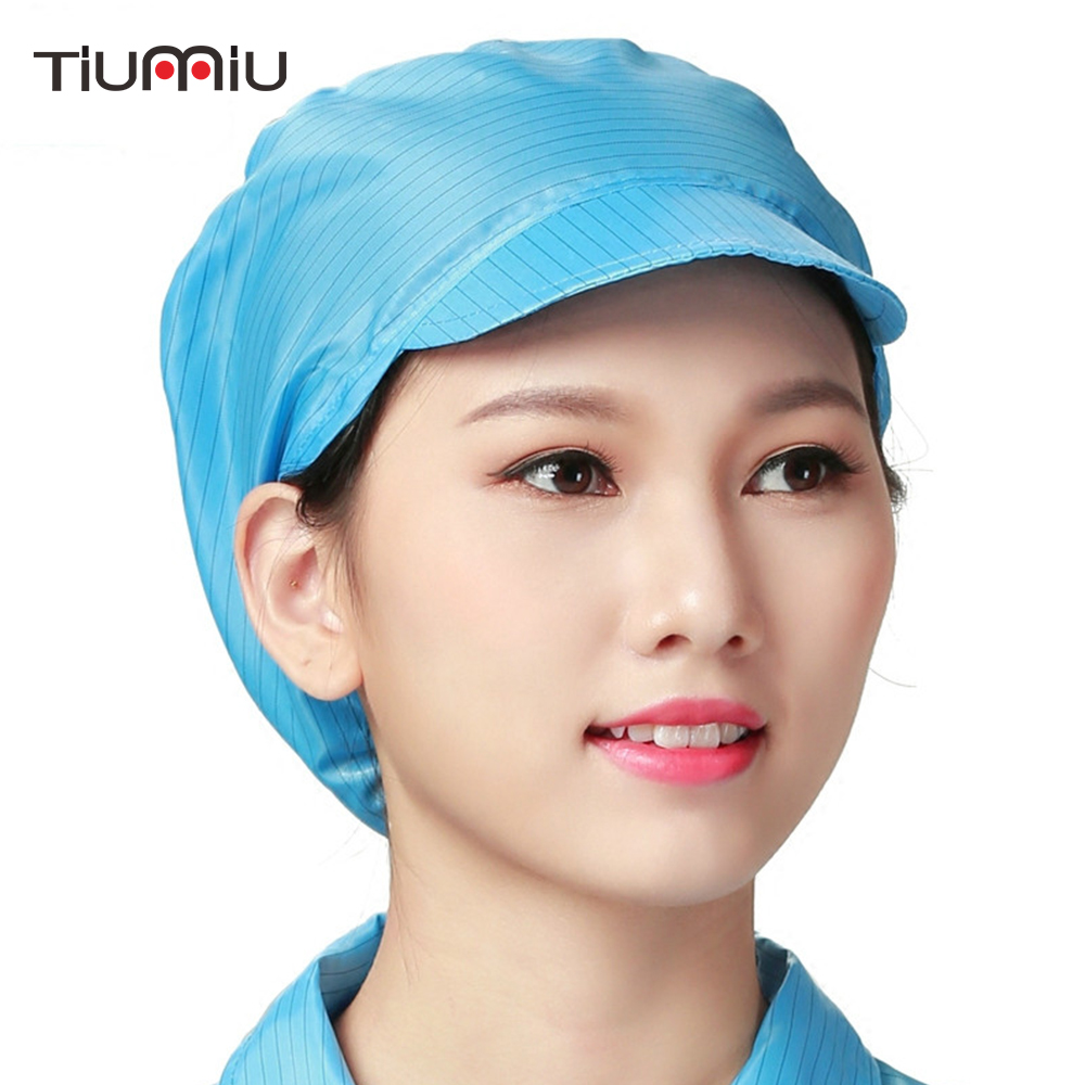 10 Pcs/lot Anti-static Working Cap Restaurant Catering Factory Workers Dustproof Hat Breathable Food Service Workshop Wear Caps