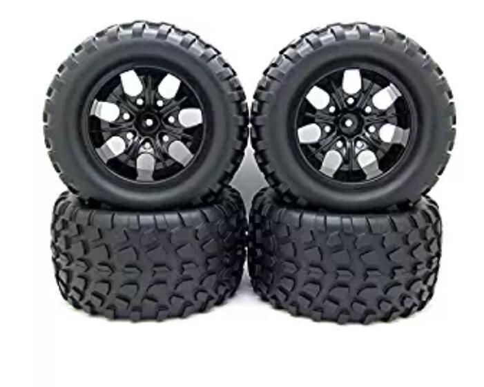 Us 2999 12mm Hub Velg Banden 110 Off Road Rc Auto Buggy Tyre Wfoam Inserts Zwart Pack Van 4 Pakket Van Vier Set Uitverkoop In Banden Van