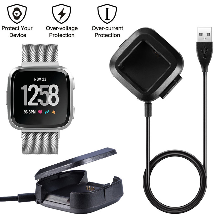 CARPRIE Replacement USB Charging Data Cradle Dock Station Cable Cord for Fitbit Versa 180404 drop shipping smart watch usb charging box cable for fitbit versa