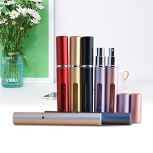 7 colors 5ml Mini Empty Aluminum Refillable Bottles Portable Travel Perfume Spray Cosmetic Containers With Atomizer Makeup Jars 5ml travel mini refillable perfume bottles portable empty atomizer perfumes bottle with spray empty cosmetic containers