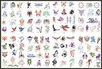 골든 피닉스 책 9 임시 에어 브러쉬 문신 스텐실 바디 아트 페인트 메이크업 화장품 100 디자인 무료 배송