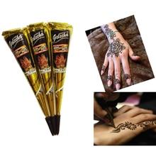 Henna Temporary Tatto Cream Natural Jet Black Plant Henna Tattoo Paste India Body Paint Paste Body Art A5