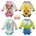 Cartoon Minnie jumpsuits mameluco para el bebé roupa infantil de manga larga de Algodón niños niñas Ropa de Bebé KD088
