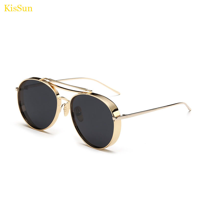 KisSun Retro Round Polarized Vintage Men Brand Designer