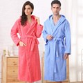 Cotton bathrobe women men hooded nightgown sleepwear girls blanket towel robe thickening lovers long super soft plus size winter