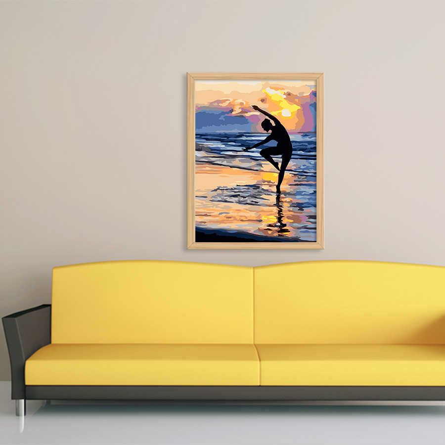 framed ballet girl diy painting poster coloring by numbers hand ...