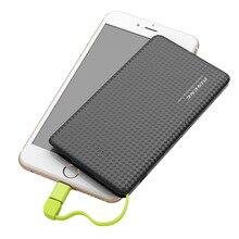 5000 мАч Power Bank Mobile Power Портативный СВЕТОДИОДНЫЙ Внешняя Батарея Индикатор Зарядки С USB Зарядный Кабель для iphone Android