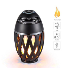Bluetooth Speaker USB LED Flame Lamp Portable Stereo Outdoor Camping Realistic Dancing Flames Loudspeaker