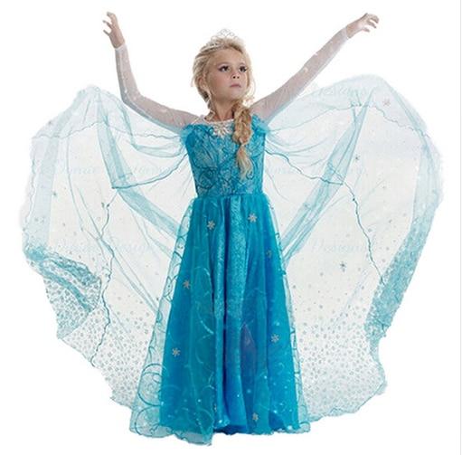 SAMGAMI BABY Անվճար առաքում 2018 New Elsa and Anna Dress - Մանկական հագուստ