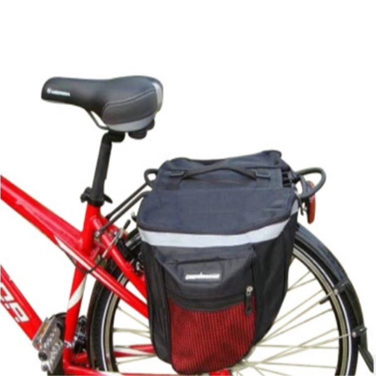 25L 600D Waterproof Fabric Mountain Road Bicycle Bike Rack Rear Seat Tail Carrier Trunk Double Pannier Bag for Riding Cycling Rear Seat Bag Shoulder Bag
