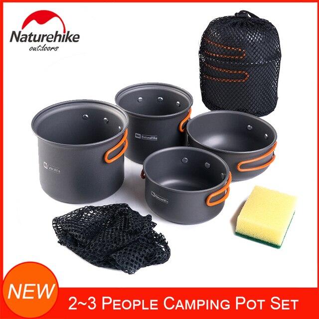 Naturehike 4-kits camping piezas utensilios updated de aluminio