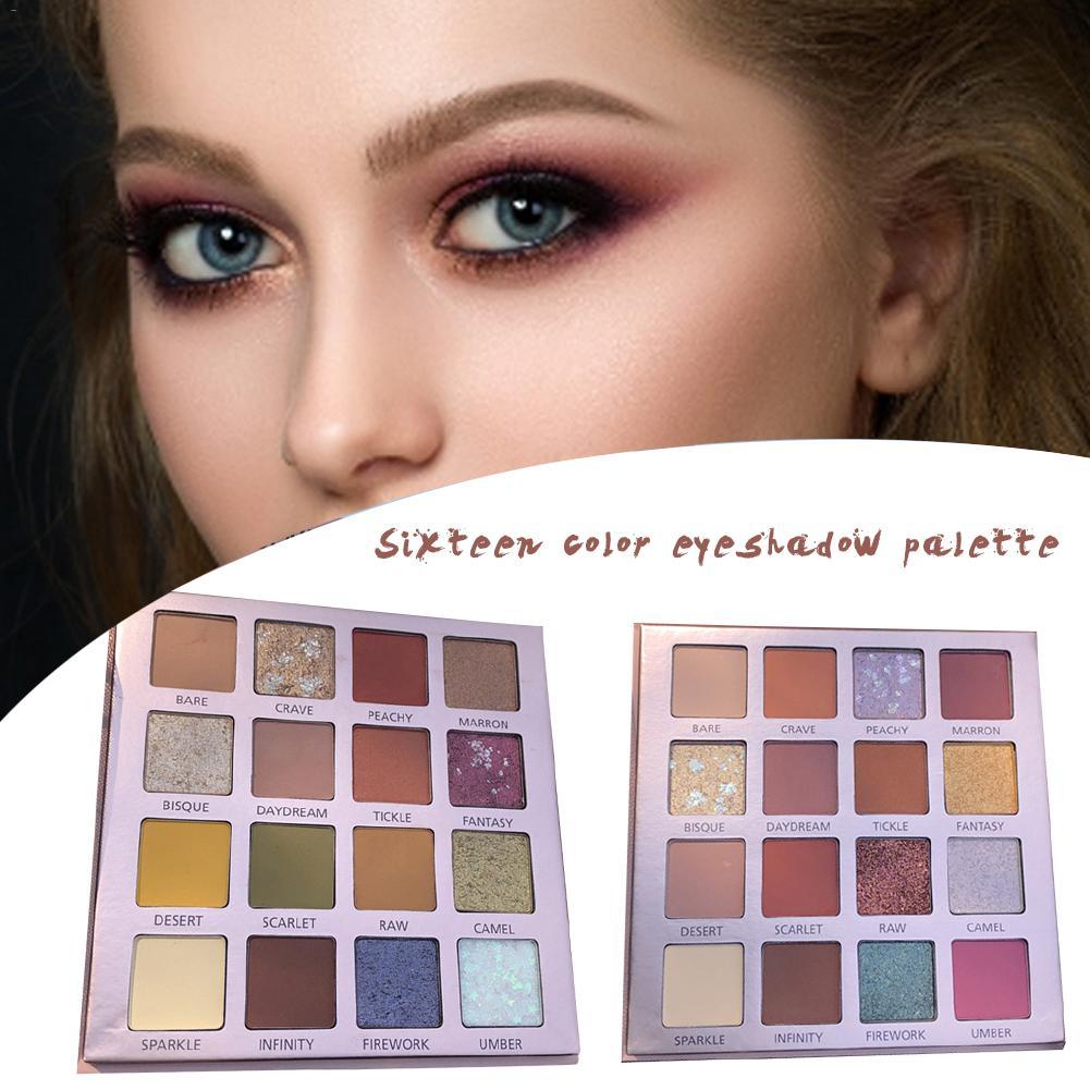 16 Colors Eyeshadow Palette Waterproof Makeup Eye Shadow Powder Matte Shimmer Glitter Beauty Eye Make Up Long Lasting in Eye Shadow from Beauty Health