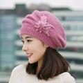 Iduolelele boa qualidade chapéus de inverno para as mulheres gorro de inverno cap coelho cabelo boina sólida da mãe