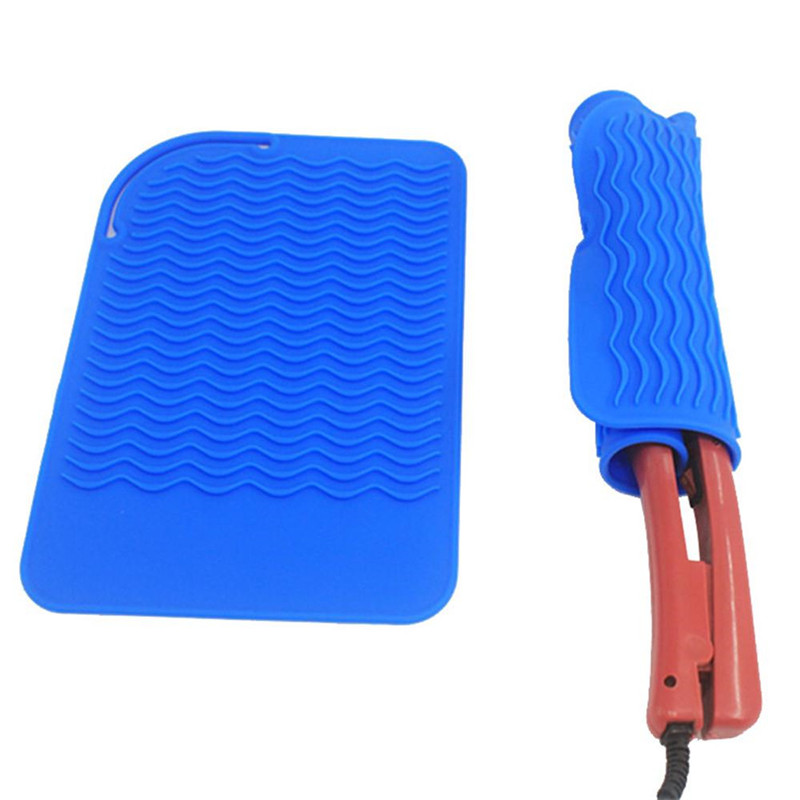 Hair Styling Cool Tool Non-slip Silicone Pad Hair Curler Surface Protectors Silicone Insulation Pad Hair Straightener Placemat