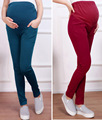 2016 Cotton Maternity Belly Pants Pregnant Women Pants Maternity Trousers Slim Pregnancy Leggings Pregnant Women Clothes YK18