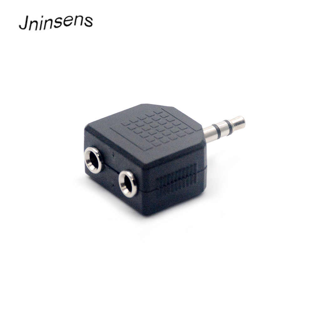 Mini Stereo 3.5 Mm Audio Jack Male To Dual 3.5 Mm Wanita Double Earphone Headphone Y Splitter Adaptor Steker untuk MP3 Telepon