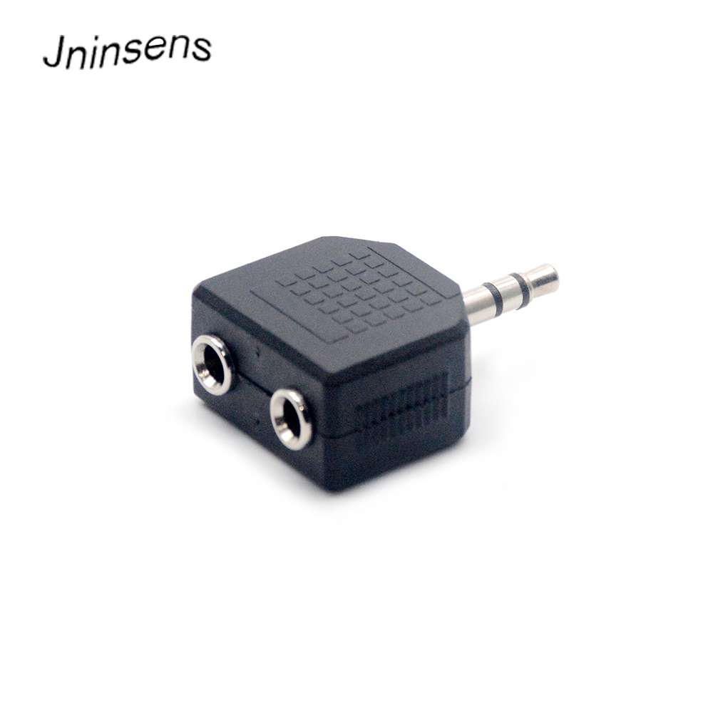 Mini Stereo 3.5mm Audio Jack Male To Dual 3.5mm Female Double Earphone Headphone Y Splitter Adapter Plug For MP3 Phone