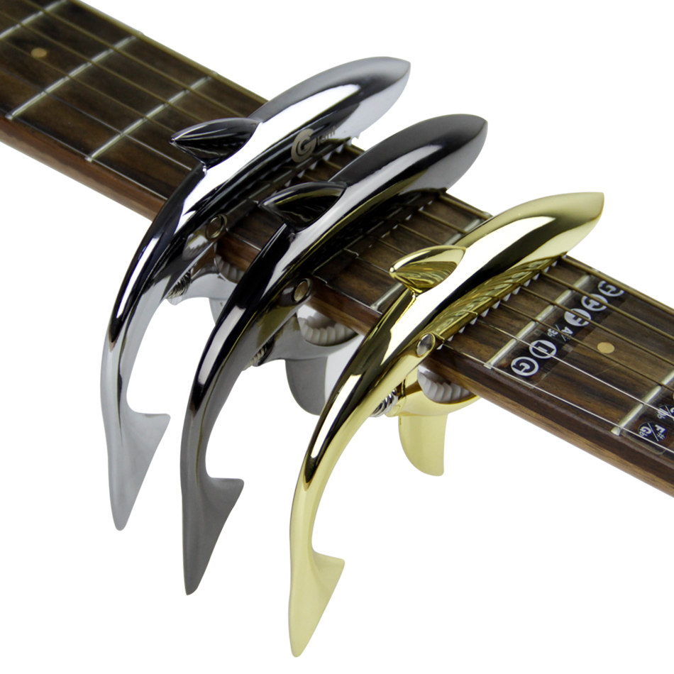 shark acoustic electric guitar capo bass guitar capo capotasto in guitar parts accessories. Black Bedroom Furniture Sets. Home Design Ideas