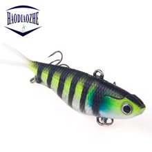 1pcs/lot Soft Fishing Lures 9.5cm 20g Lead Bait With High Carbon Hook Artificial Silicon Wobblers Crankbait Tackle