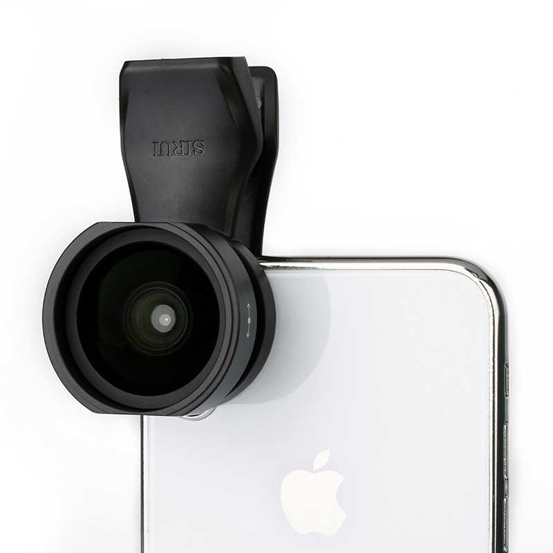 SIRUI 18mm Wide Angle Phone Lens Clip-On Lens HD 4K Aluminum Housing Camera Lens for iPhone XS X Samsung S9 S8 Huawei Mobile