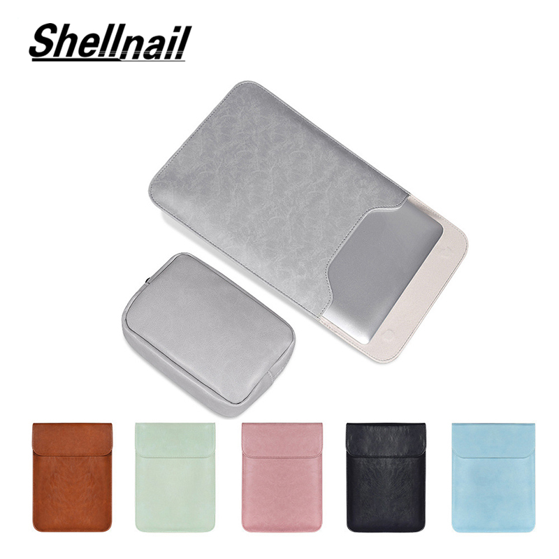 Shellnail Laptop Sleeve Bag For Macbook Air 13 Touch ID Pro 13 Retina 11 12 15 Bags Case For Xiaomi 13.3 15.6 Notebook Cover