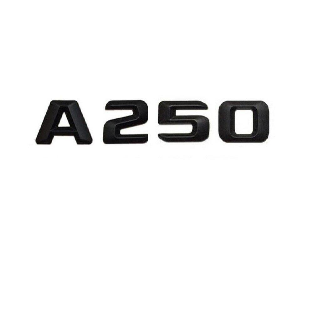 """AMG /"""" Letters Trunk Emblem Badge Sticker for Mercedes Benz Matt black /"""" SLK55"""