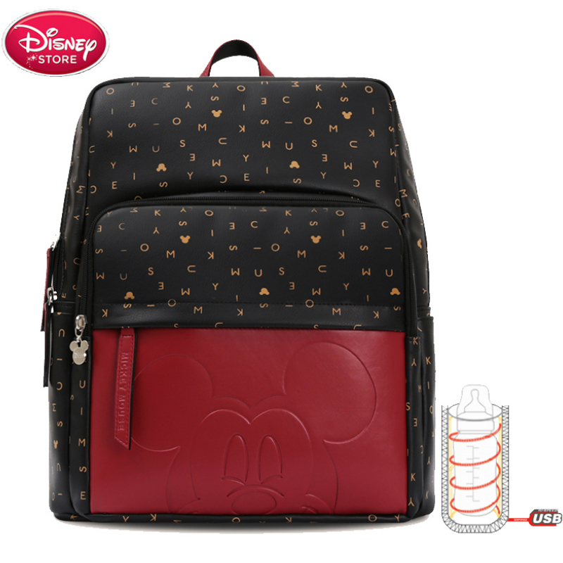 Disney Mummy Diaper Fashion Mickey Mouse Bags For Mom Bottle Insulation Bag Travel Backpack Designer Nursing Bag For Baby Care