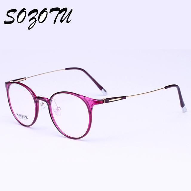 Óptica Marco de Anteojos Mujeres Gafas de Ordenador Marca Montura de gafas De Lente Transparente de Las Mujeres Oculos Femeninas YQ159