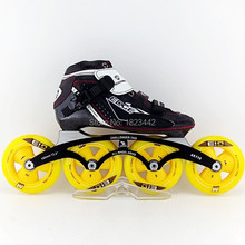 SCHANKEL E model carbon fibre speed skating shoes , inline skating shoes ,with PILOT MODEL 4X110MM skating frame, wheels