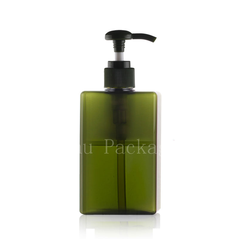 100ml 280ml square bottle with lotion pump (2)