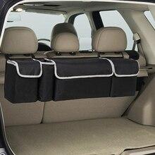Автомобильный Органайзер багажник заднее сиденье Регулируемая сумка для хранения Сетка высокая емкость мульти-использование Оксфорд задний Интерьер Аксессуары Автомобильное сиденье
