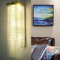 luxury crystal sconce corridor LED indoor wall light lamps deco bathroom mirror light crystal wall lamps for home lighting lamp