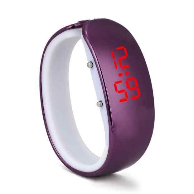نساء السيدات الرياضة LED تصفيح أسورة ضد الماء معصم رقمية ساعة ساعة عسكرية موضة إلكترونيات عادية ساعات المعصم