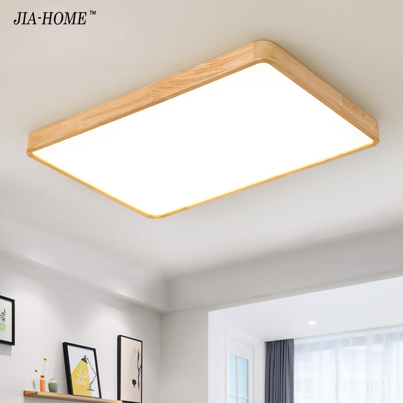 Dimmer led ceiling light with Ultra thin 6cm wood mission lighting for living room bedroom flush