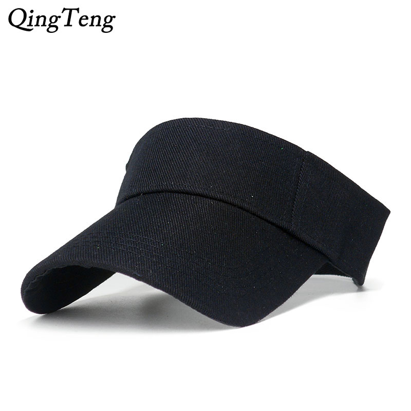 99151983 Solid Color Empty Top Visor Caps Summer Beach Baseball Cap Cotton Brand  Tennis Hats For Men Women Outdoor Sports Golf Hat Adjust