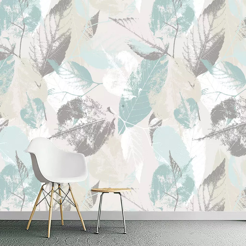 Custom 3D Photo Wallpaper Roll Nordic Modern Leaves Leaf Petals 3D TV Living Room Wall Non-woven Waterproof Wall Covering Mural